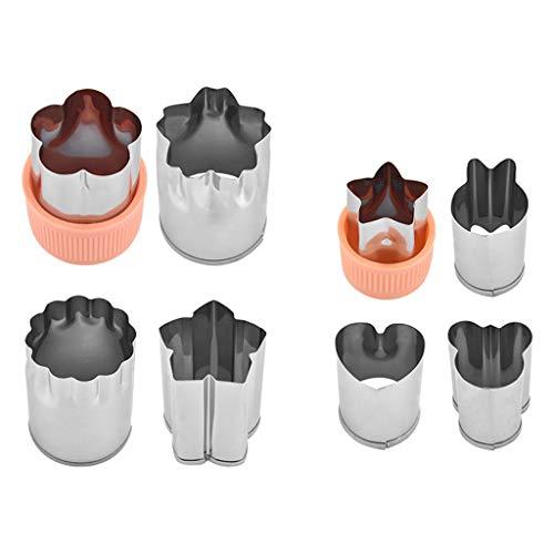 Webla - 8 UNIDs Größe Mehrere Stern-Frucht-Form, Fondant-Kuchen-Plätzchen-Plunger-Form-Form, Werkzeuge Lebensmittel Cutter, Tier-Blumen-Stern-Herz-Form