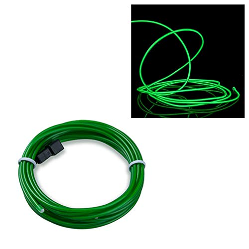 Tron Kostüm Licht - EL Wire Neon Kabel, Jadegrün 1M, LED Leuchtet Tron Electroluminescent, LED Blinkend, Weihnachten, Halloween Party, Kostüm Konzert Rave,Nachtclubs