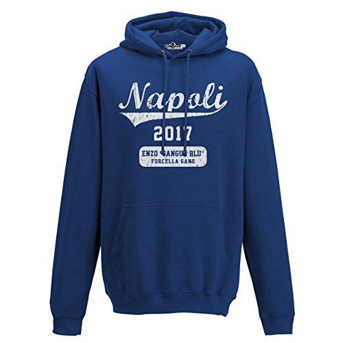 KiarenzaFD Sweatshirt Kapuze Serie TV Napoli 2017nzo Blut blau Gabel Gang Gomorrha 3, Königsblau, Small