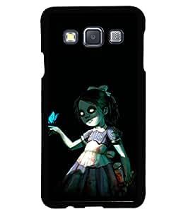 printtech Girl Butterfly Dark Back Case Cover for Samsung Galaxy A3::Samsung Galaxy A3 A300F