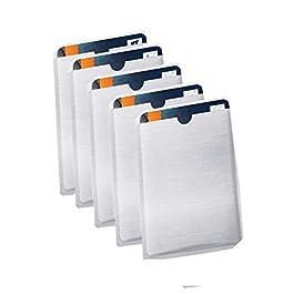 [CONFEZIONE DA 5 ]Schermatura Carta Di Credito/Bancomat Da Letture RFID e Elettromagnetiche