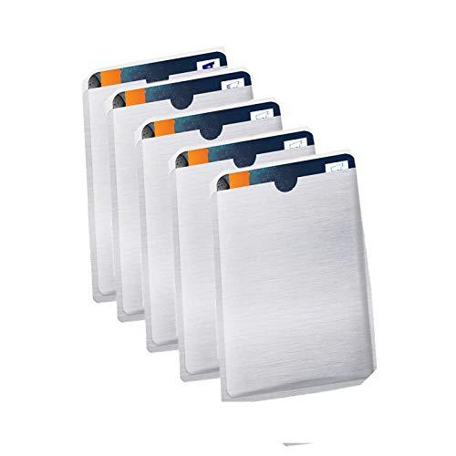 CONFEZIONE DA 5  Schermatura Carta Di Credito Bancomat Da Letture RFID e  Elettromagnetiche ... eb6fef69389