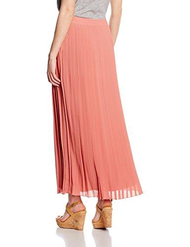 TOM TAILOR Damen Rock Solid Plissee Skirt Orange