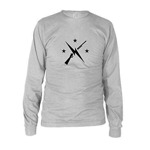 (Planet Nerd Commonwealth Fighters - Herren Langarm T-Shirt, Größe: L, Farbe: weiß)
