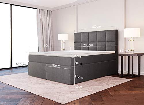 Dream Boxspringbett Grau-Anthrazit Luxusbett Bild 6*