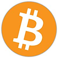 SkyBug Bitcoin Cryptocurrency Icon Bumper Sticker Vinyl Decal for Car Truck Van Wall Window (24 X 24 cm)