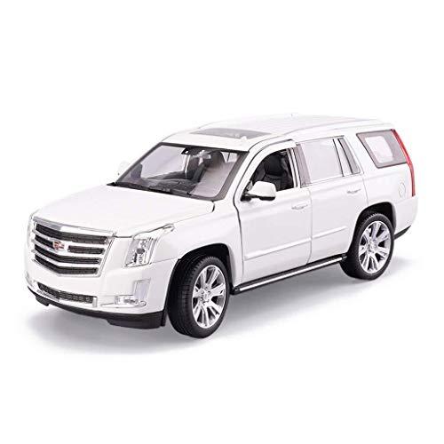 IMBM Modellauto 1:24 Cadillac Escalade Simulation Legierung Druckguss Spielzeug Ornamente Sportwagen Sammlung Größe 19,2x8,4x7 cm (Color : White)