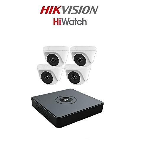 hiwatch hdtvi-4X turret40m-kit-2tb TVI Sicherheit Kamera System mit 4CH HD DVR und 4x 2,1MP 1920x 1080P CCTV Objektivwechsler, weiß