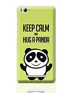 PosterGuy Xiaomi Mi 4i Case Cover - Hug A Panda - Green Panda, Cute, Hug, Minimal, Notion ink, Love, Adorable, Girl, Black, White, Green, China, Innocent
