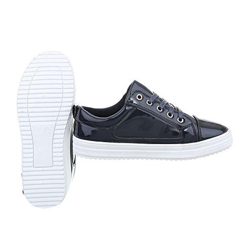 Sneakers Ital-design Basse Scarpe Da Donna Sneakers Basse Sneakers Basse Scarpe Casual Blu Scuro N-4-1