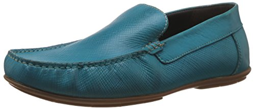Alberto Torresi Men's Turquoise Leather Loafers and Mocassins - 7 UK