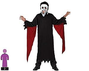Atosa-31860 Atosa-31860-Disfraz Fantasma para niño infantil-talla 3 a 4 Años negro, color (31860)