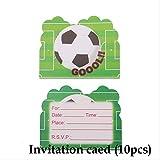XYCC Gift Bag Coppa del Partito Tema di Calcio Festa di Compleanno Regalo di Compleanno per Bambini Regali del Bambino del Fumetto Doccia Partito10pc Biglietto d'invito