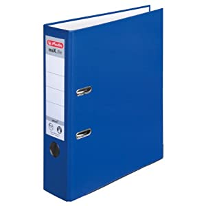 Herlitz max.file Protect A4 8cm Lever Arch File - Blue (5 Pieces)