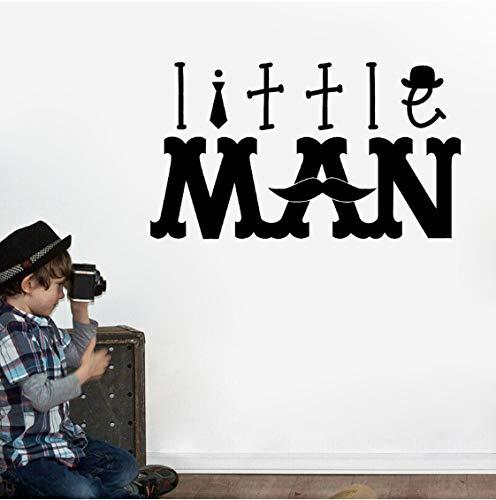 Kleiner Mann Worte Schnurrbart Hipster PVC Wandaufkleber Aufkleber Kinderzimmer 48 CM * 27,1 CM