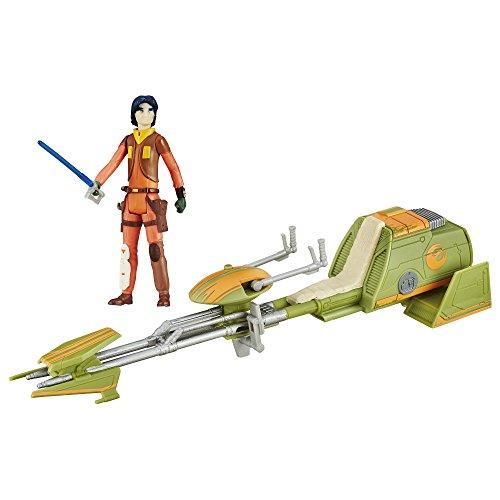 Star Wars Hasbro – B3716 The Force Awakens – Rebels – Ezra Bridger Spielfigur + Speeder ()