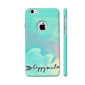 Colorpur iPhone 6 / 6s Logo Cut Cover - Happy Soul On Watercolor Background Printed Back Case