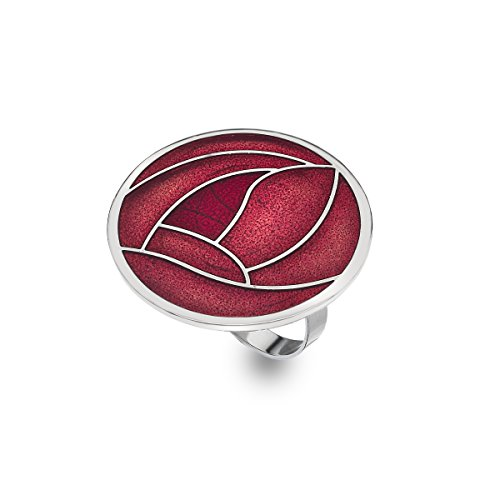 Sciarpa anello, smalto Mackintosh ROSA (Rennie Mackintosh Gioielleria)