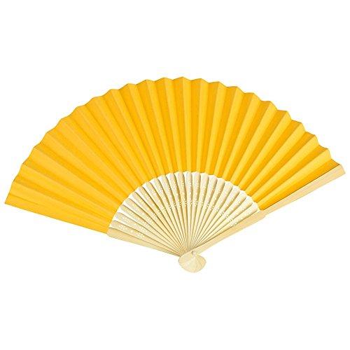 VON LILIENFELD Fächer Bella Papierfächer Bambusstäbe gold/gelb