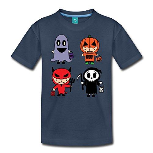 Halloween Kostüme Teufel Kürbis Geist Teenager Premium T-Shirt von Spreadshirt®, 158/164 (12 Jahre), (Teufel Mädchen Ideen Kostüm)