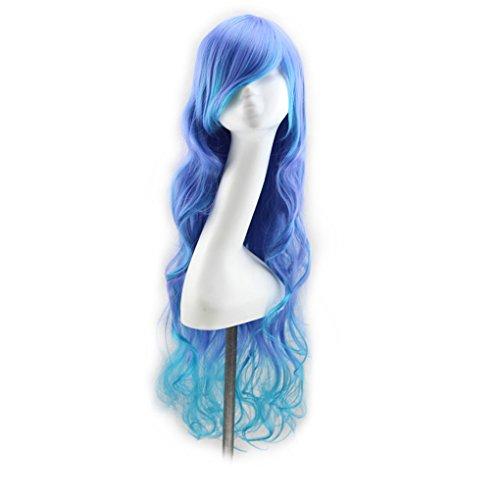 (Chunyang Multi Farbe Sexy Lange Lockige Perücke Mode Cosplay Kostüm Anime Haar Volle Wellenförmige Perücke Haar)