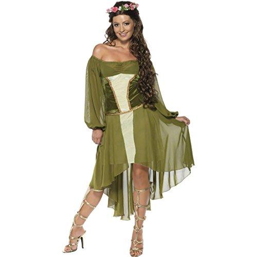 Costume pour femme fée vert Taille M 40/42 costume d'elfe costume de fée déguisement fée de la forêt déguisement pour femme elfe des bois