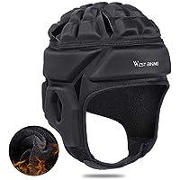 vogueyouth Casco de Rugby, 23 X 17-21 X 28 cm 600D Velour Casco Protector de Cabeza con Banda elástica para Patinar para Deportes de Invierno al Aire Libre