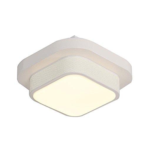 LED Deckenleuchte Esszimmer Deckenlampe Küche Schlafzimmer Flur Lampe Beleuchtung Moderne Einfache Rastergitter-ähnliche lichtdurchlässige Deckenbeleuchtung Weiß 1 Leuchte Acryl Lampenschirm Eisen L24cm * W24cm * H12cm (Die Hitze-inseln)