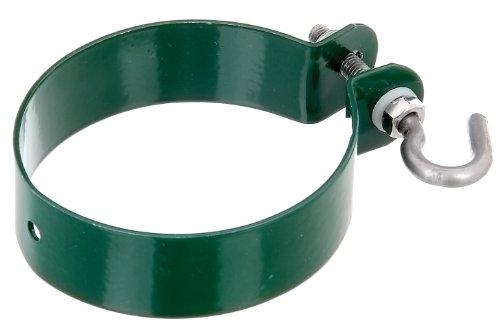 GAH-Alberts 655587 Schelle für Geflechtspannstäbe, verzinkt, grün kunststoffbeschichtet, Ø76 mm