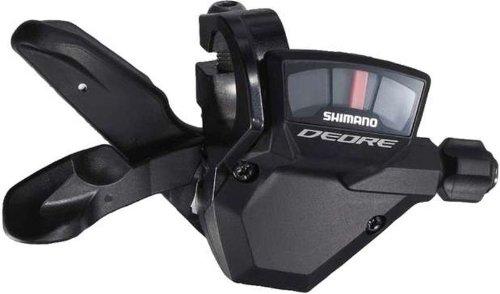 SHIMANO Rapid FIRE Plus DEORE, EIN Paar Getriebesteuerungen, schwarz.