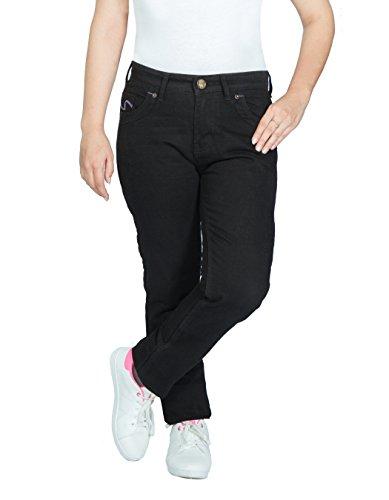 OneDayMore Aramid verstärkte Damen-Motarrad-Jeans, Schwarz, 8007, 34W x 29L.