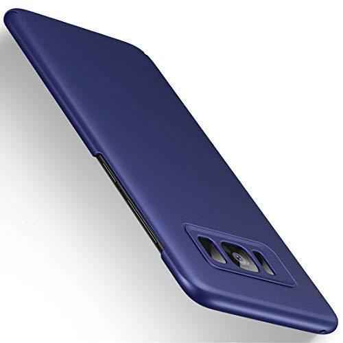 Humixx Samsung Galaxy S8 Hülle, Ultra Dünn Schlank Hardcase Anti-Fingerabdruck Handyhülle Schutzhülle für Samsung Galaxy S8 【Skin Series】- Dunkelblau