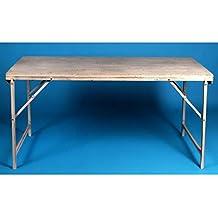 Mesa de centro elevable con tapa de madera antigua decapada gris