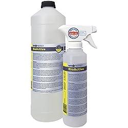 BioActive Universal | Biologischer Geruchsneutralisierer mit Wirkbeschleuniger | Natürlich, hygienisch und dauerhaft | Konzentrat | Gegen Uringeruch und Nikotingeruch | Starter Set für 2 L