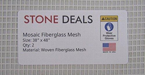 Stein Deals Mosaik Mesh für Rückseite montiert Fliesen, 96,5cm Breite, 121,9cm lang, 2Stück -