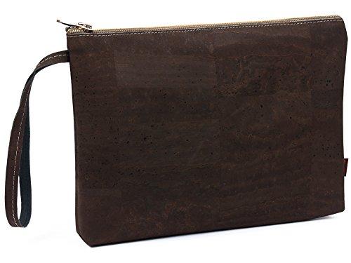 SIMARU Elegante Bolso de Mano hecho de moderno corcho / piel de corcho