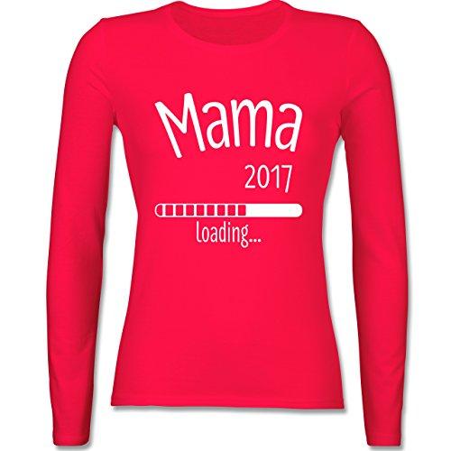 Schwangerschaft - Mama 2017 loading - tailliertes Longsleeve / langärmeliges T-Shirt für Damen Rot