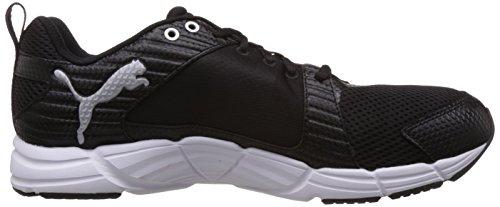 Puma Synthesis, Chaussures de sports extérieurs homme Noir (Black/Black/Silver)