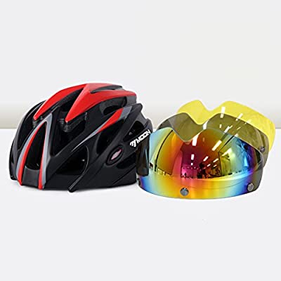 YXINY MV-31 Cycle Bike Helmet 25 Air Vents Allround Helmets 3-color Magnetic Goggles Men And Women 265g M/L 4 Colors Optional from YXINY