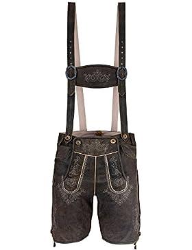 ALMBOCK Lederhose Herren kurz | Trachten Lederhose kurz aus edlem Leder von Gr. 46-60 | Kurze Lederhose in vielen...