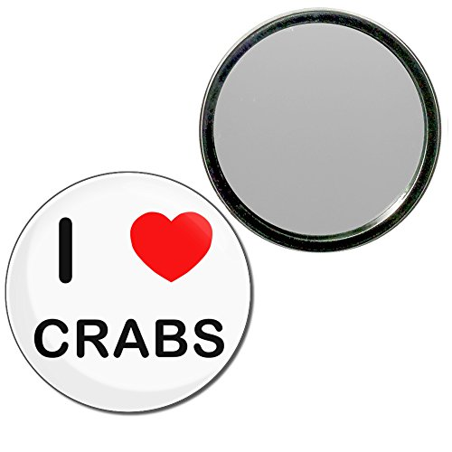 I Love Crabs - 55mm ronde de miroir compact