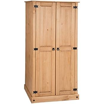 garderobenschrank dielenschrank kleiderschrank tulum kiefer 3 t rig 3 t ren natur. Black Bedroom Furniture Sets. Home Design Ideas
