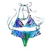Bikini Donna Mare Push Up Costume da Bagno delle Donne del Leopardo Che Nuota Il della Spiaggia dello Swimwear di Due Pezzi dei Costumi Bagnotop Bikinibikini Giallotankini