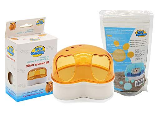 BPS Bad Hamsterkäfig Gerbille Kleintier mit Bad Sand Rennmäuse Badesand 3 Modelle Größen S/M / L Farbe Wird per Zufall versendet (Modell M: 11,5x9x8 cm) BPS-5442 * 1