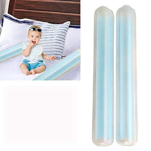 TOMATION 2PCS Zweifacher Rausfallschutz für Kinder,Kleinkind-Bettgitter-Stoßstangen Sicherheitsschlafseiten-Schiene, Aufblasbarer Bettrand, aufblasbare Bettgitter für Kleinkinder | Travel Bed Rail (Baby Reise Bett-schiene Für)