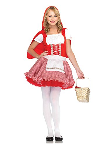 Kostüm Red Lil - LEG AVENUE J48033 - Junior Lil' Miss Red Kostüm, Größe: S/M, rot/weiß