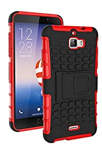 Coolpad Dazen 1 Protective Back Cover / Case : Cool Mango Premium Dual Layer Armor Protection Case Cover with Kickstand for Coolpad Dazen 1 - Red