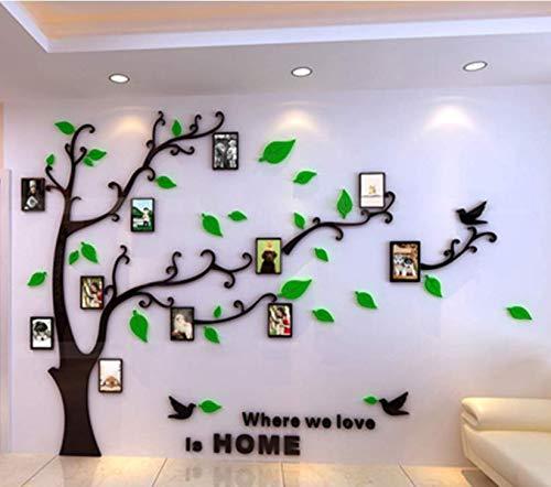 Mjia Wall Sticker 3D kristall Stereo wandaufkleber acryl Foto Baum Sofa Wohnzimmer tv Hintergrund Wand Schlafzimmer einrichtungsgegenstände m Links Stereo-fotos