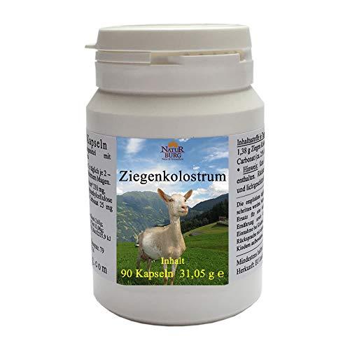 Kolostrum Biestmilch Erstmilch der Ziege 90 Kapseln - 100% natürlich mit 230 mg Ziegenkolostrum je Kapsel - Nahrungsergänzungsmittel für die ganze Familie