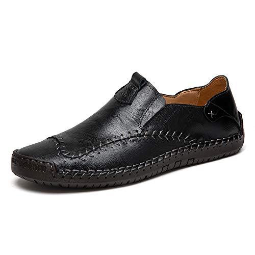 Mocasines Zapatillas Hombre Cuero Casuales Zapatos Caballero Trabajo Ligeras Ponerse Centavo Conducción...